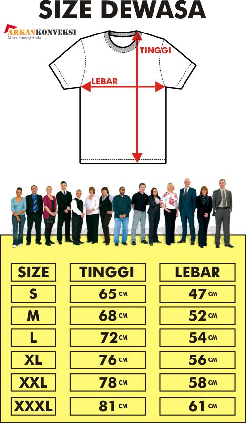 standar ukuran pakaian dewasa